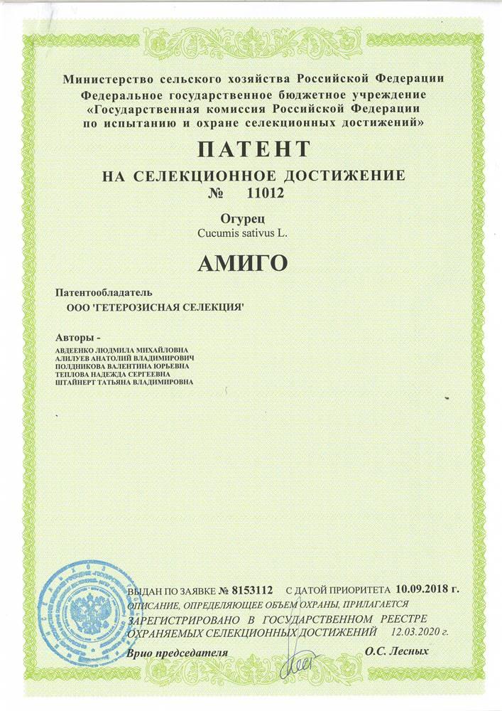 Огурец АМИГО F1