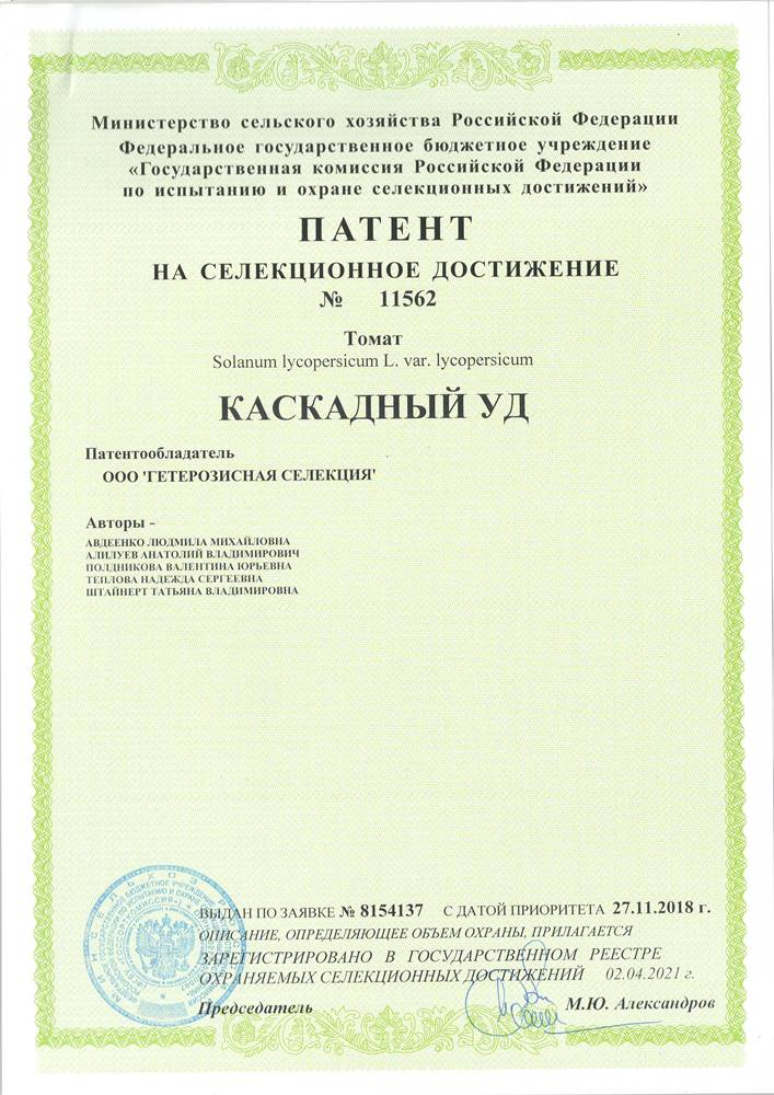 Томат КАСКАДНЫЙ УД