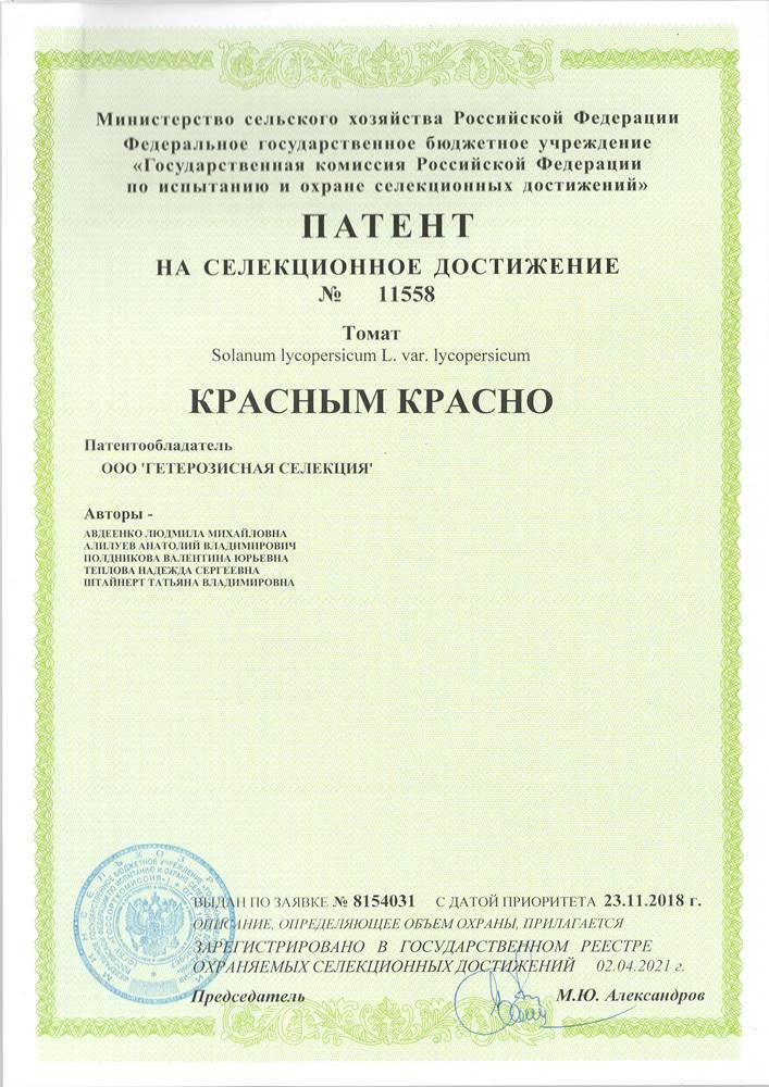 Томат КРАСНЫМ КРАСНО F1